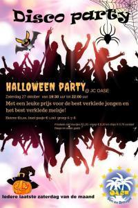 Poster disco-avond Jongencentrum Oase oktober 2018