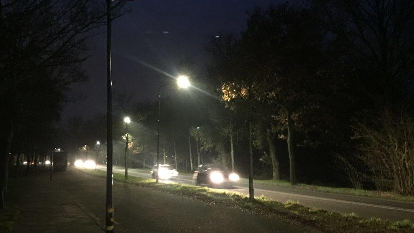 Niet werkende lantaarnpalen bij de Thermaelaan