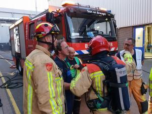 Brandweer Best en Son en Breugel oefenen samen met Rendac
