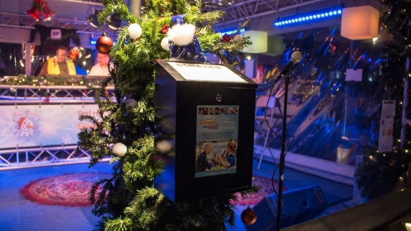 Na een week lang radio maken vanuit de kiosk is in totaal een bedrag van 2500 euro opgehaald door Snow Radio voor het goede doel.
