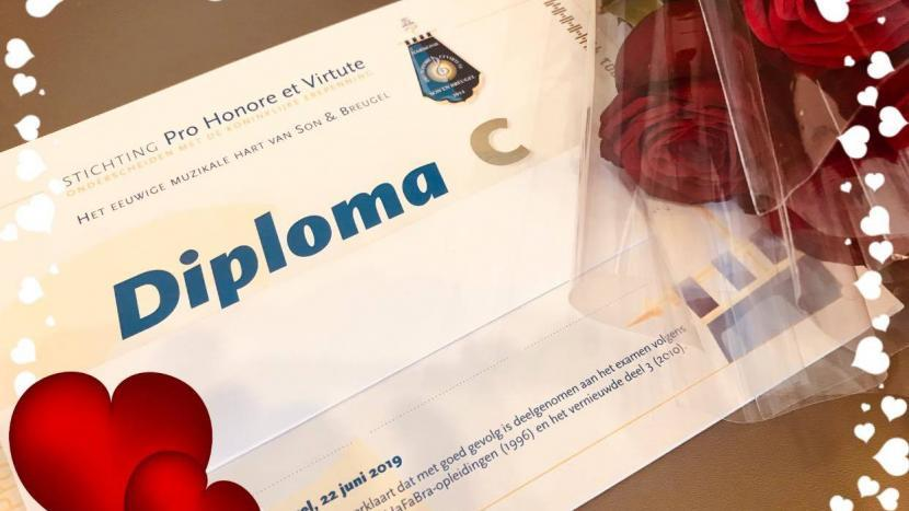 muziekdiploma van harmonie Pro Honore et Virtute