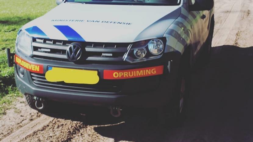 Auto van de Explosieven Opruimings Dienst (EOD)