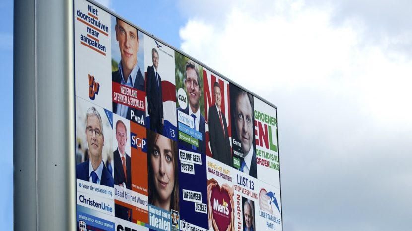 Verkiezingsborden tijdens de Tweede Kamerverkiezing