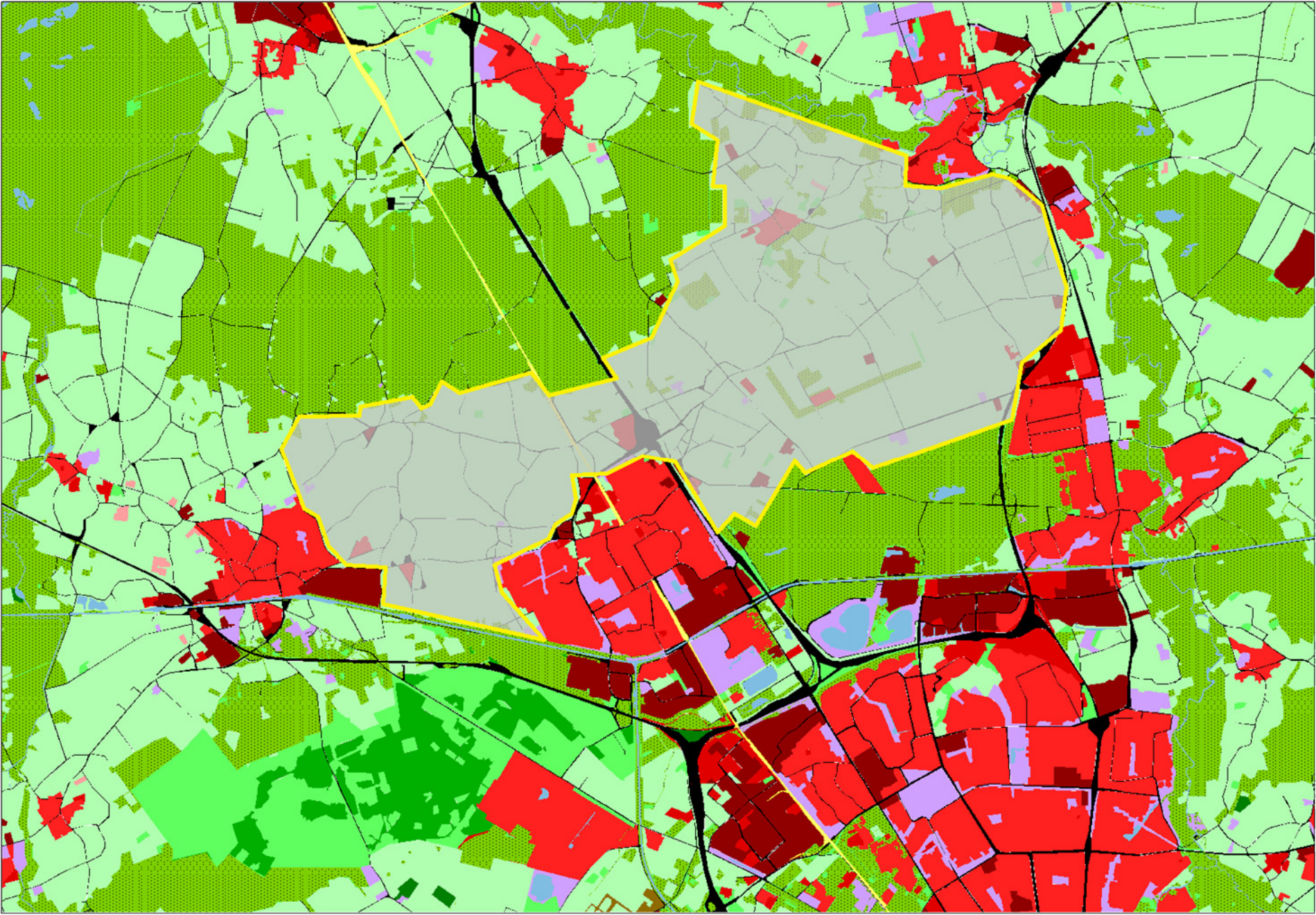 Geprojecteerde zoekgebied in Sonniuswijk