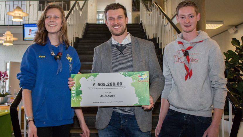 Scoutingvrijwilligers Son en Breugel zijn 605.280 euro waard