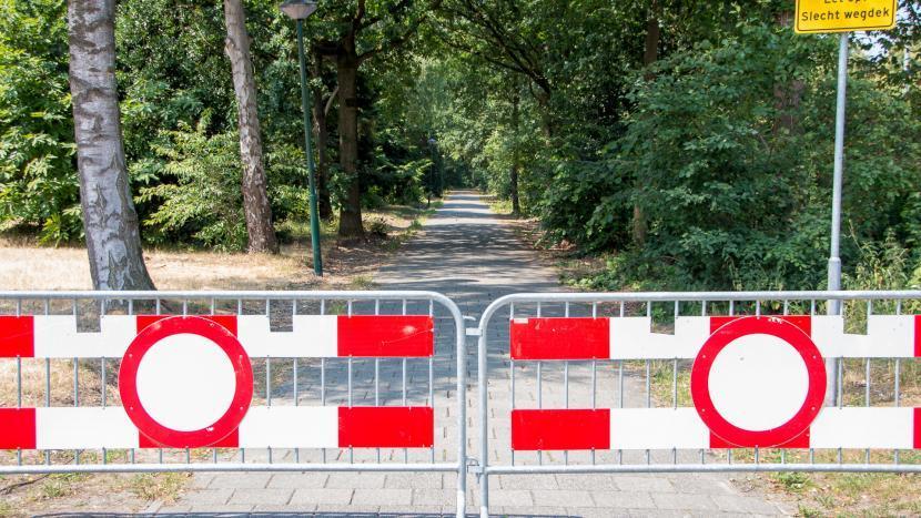 Fietspad Gentiaanlaan afgesloten: te gevaarlijk om te fietsen