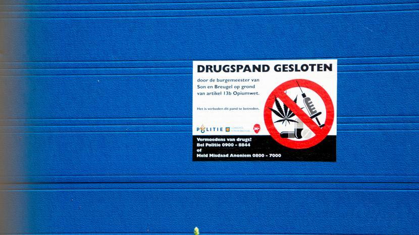 Burgemeester sluit pand aan De Bontstraat na vondst verdovende middelen
