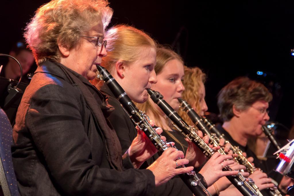 Klarinetspelers van harmonie Pro Honre Et Virtute