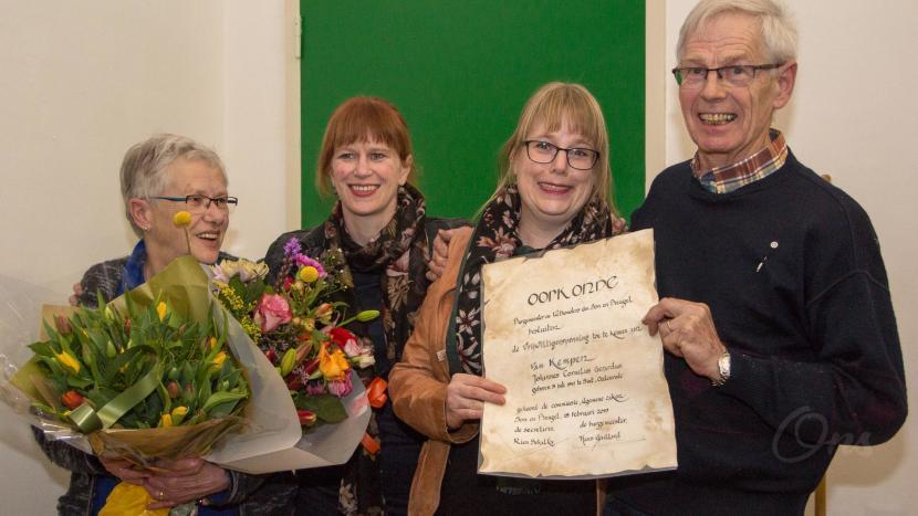 Vrijwilligerspenning uitgereikt aan Joop van Kempen