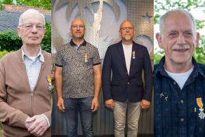 Lintjes voor Dirk Grevink, Erwin Deckers, Marijn Versantvoort en Hans Coolen