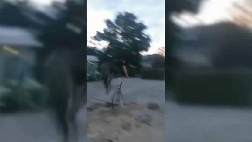 Mislukte stunt op het schoolplein van de Krommen Hoek vlak voor de val