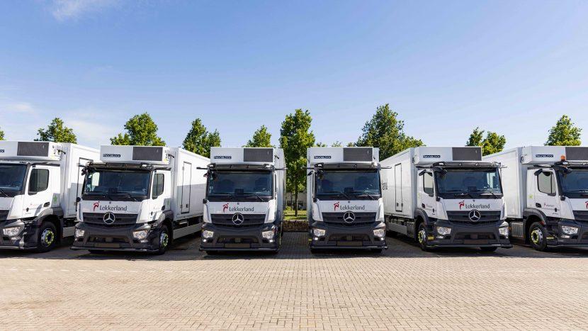 De nieuwe vrachtwagens van Lekkerland