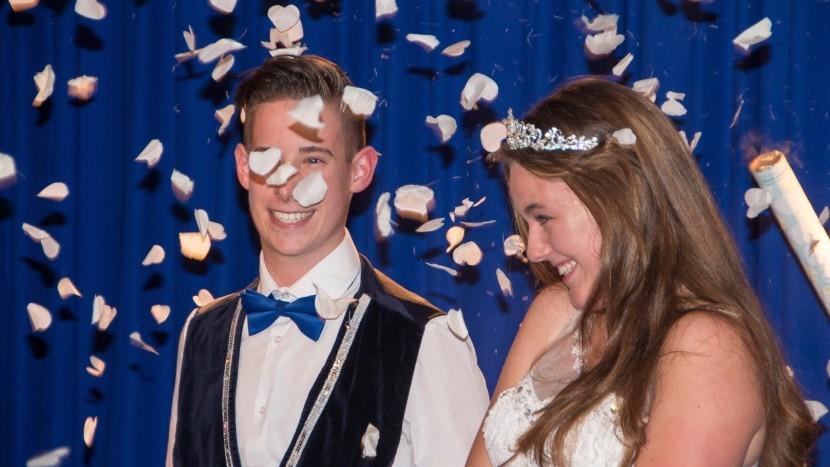 Dit zijn jeugdprins Jaimy en jeugdprinses Britt