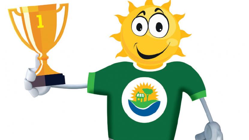 Mascotte Frans Zaal bokaal en De Jeugd in het Groen prijs
