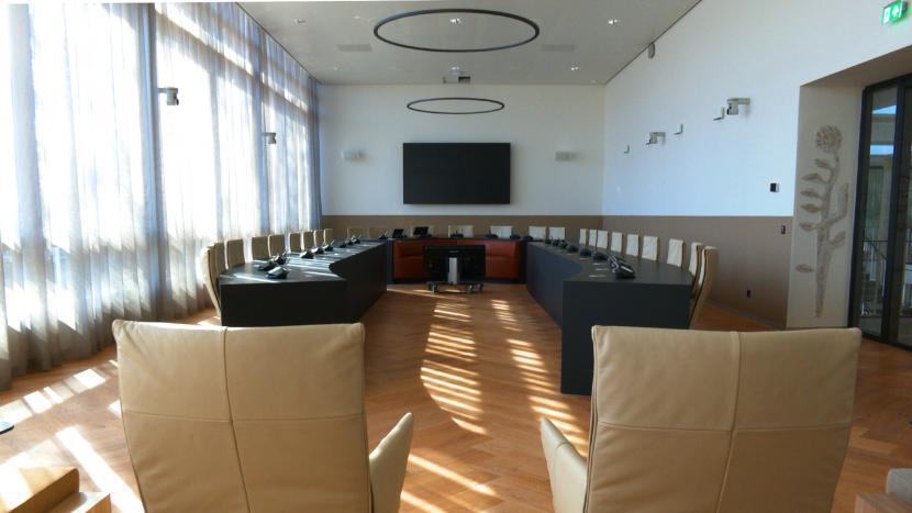 De raadzaal in het gemeentehuis