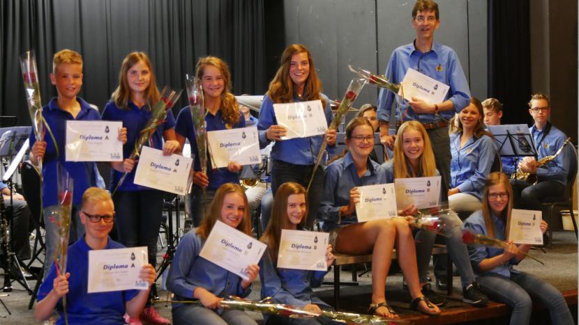 Muzikaal succes voor leerlingen Harmonie Pro Honore et Virtute