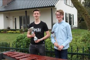 Slagwerkers van Pro Honore et Virtute in de prijzen op solistenconcours