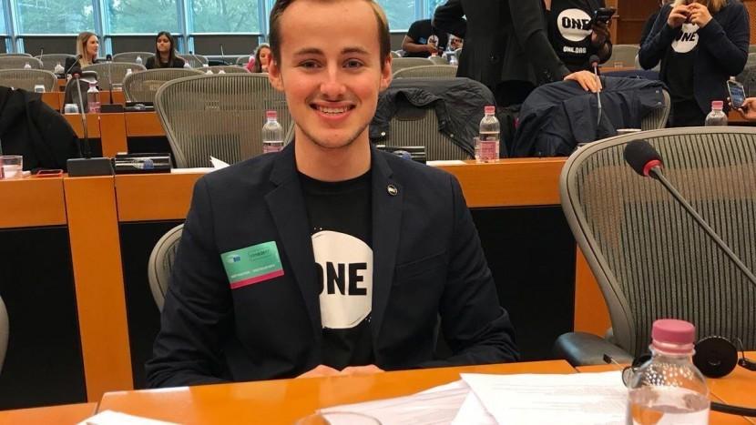Steven Elders lobbyt bij het Europees Parlement