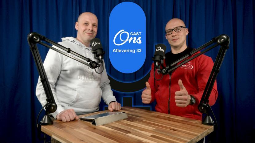 Rutger van der Heijden en Rick Bierens op de set van Onscast