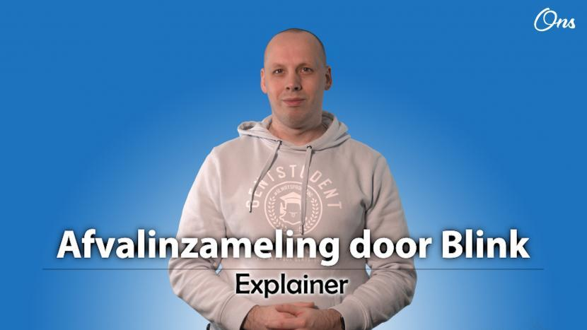 Screenshot uit de explainer afvalinzameling door Blink met Rutger van der Heijden