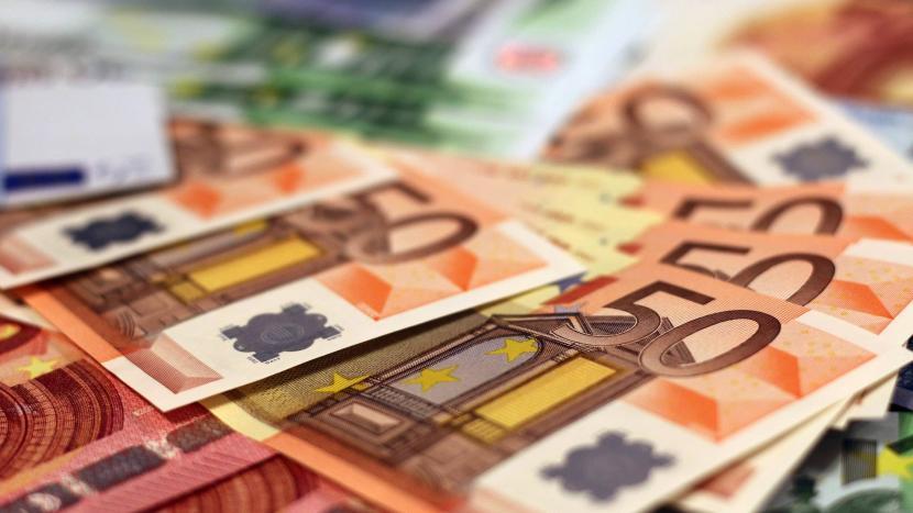 Een hoop eurobiljetten