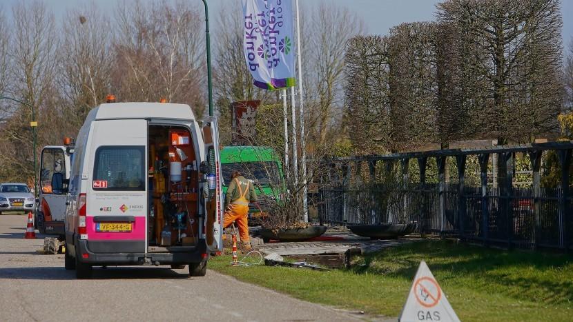 Gaslek door graafwerkzaamheden aan Eindhovenseweg