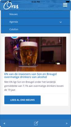 Screenshot Ons Son en Breugel iOS app