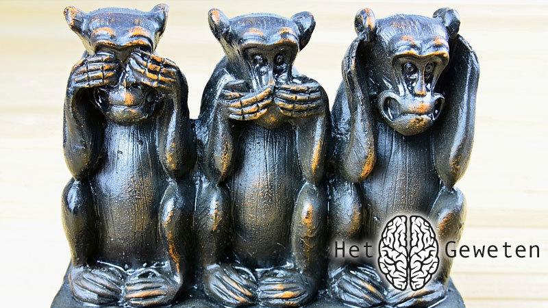 het geweten horen zien zwijgen drie wijze apen