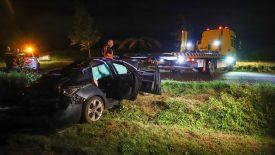 Automobilist verliest macht over het stuur op de Lieshoutseweg