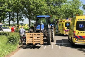 Traumahelicopter ter plaatse na val uit tractor