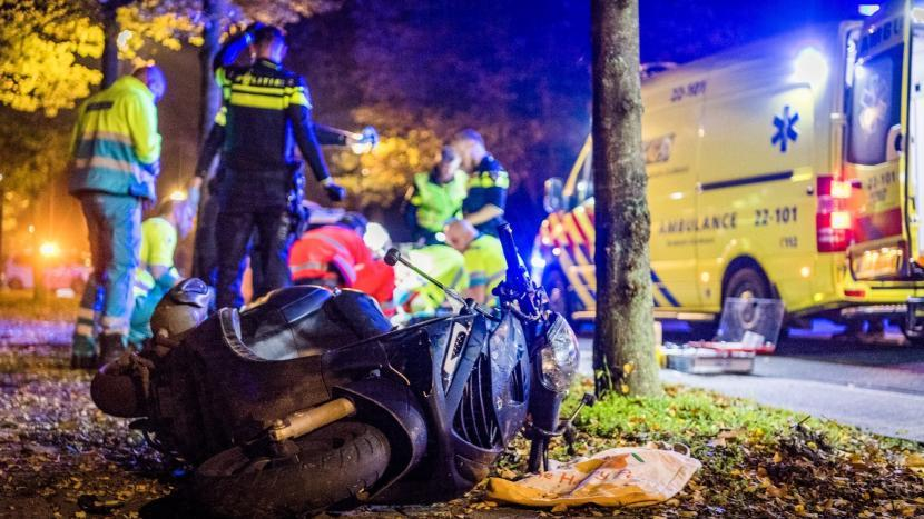 De scooter van het dodelijke ongeval